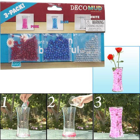 80-Gm5362 Deco Mud - 3 Pk.-Pink, Blue, White - Plant Food & Decoration - Peazz.com