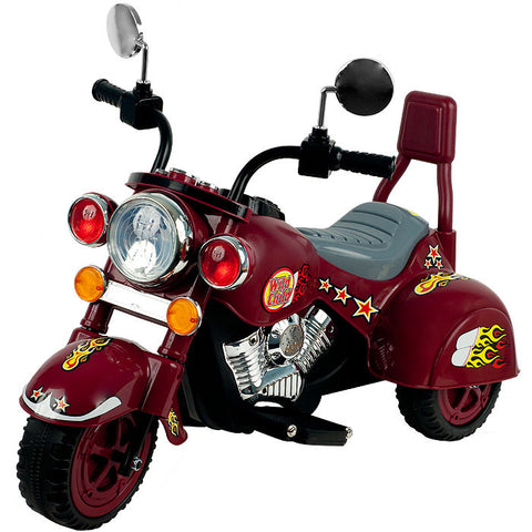 Trademark Commerce 80-YJ119M Lil' Rider Maroon Marauder Motorcycle - Three Wheeler - Peazz.com