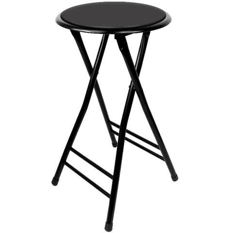 82-0827 24 Inch Cushioned Folding Stool - Trademark Home Collection - Peazz.com