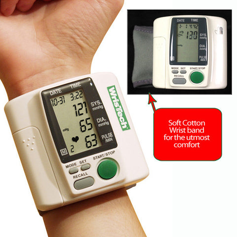 Wristech Blood Pressure Monitor - Peazz.com