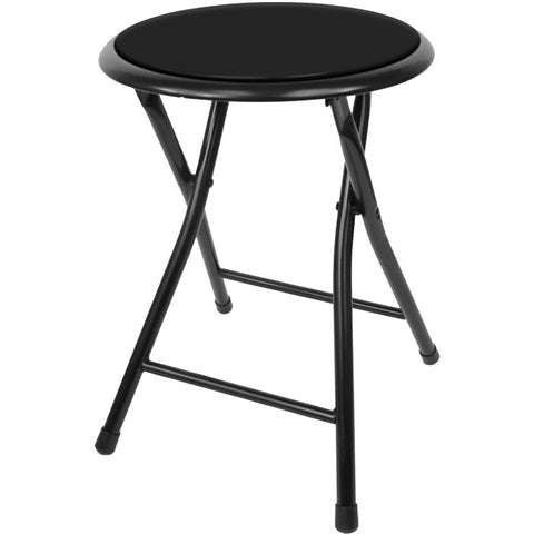 82-7879 18 Inch Cushioned Folding Stool - Trademark Home Collection - Peazz.com