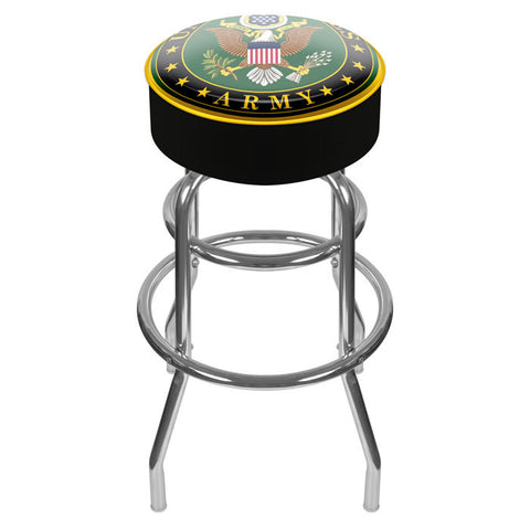 Army1000-Sym U.S. Army Symbol Padded Swivel Bar Stool - Peazz.com