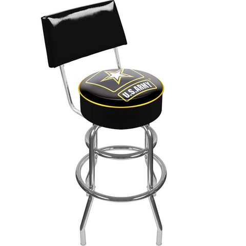 Army1100 U.S. Army Padded Swivel Bar Stool With Back - Peazz.com