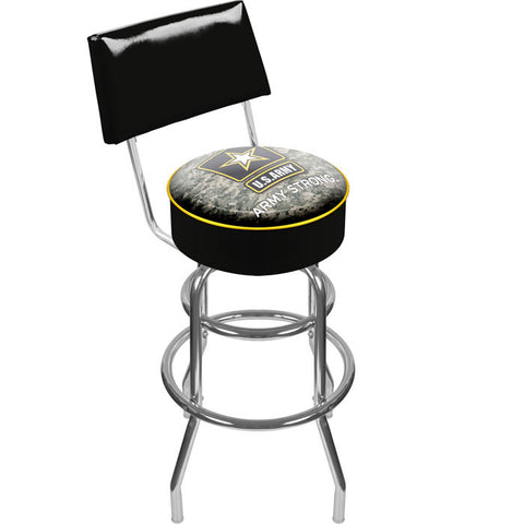 Army1100-Camo U.S. Army Digital Camo Padded Swivel Bar Stool With Back - Peazz.com
