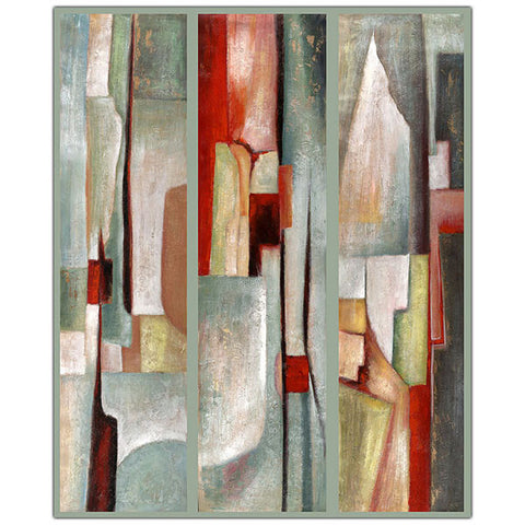 Abstract Triptych by Joval-Framed 35x47 Canvas Art - Peazz.com