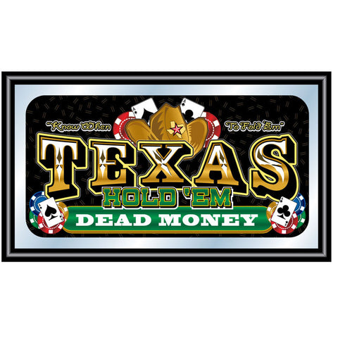 Trademark Commerce TXH1500 Texas Hold 'em  Framed Poker Mirror - DEAD MONEY - Peazz.com