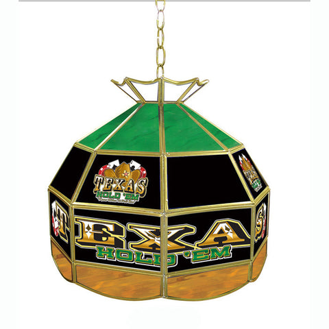 Trademark Commerce TXH1600 Texas Hold 'em Stained Glass Tiffany Lamp - 16 inch diameter - Peazz.com