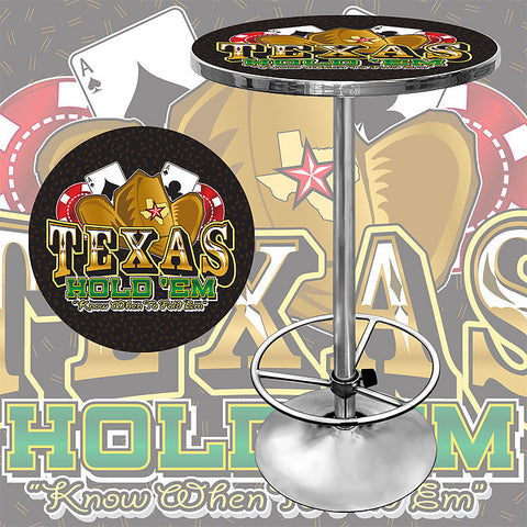 Trademark Commerce TXH2000 Texas Hold 'em Pub Table - Peazz.com