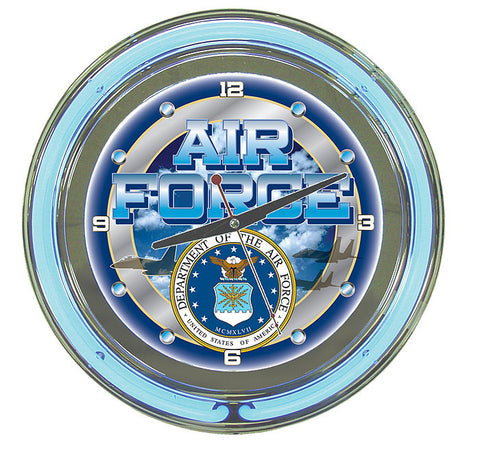 Trademark Commerce USAF1400 United States Air Force Neon Clock - 14 inch Diameter - Peazz.com