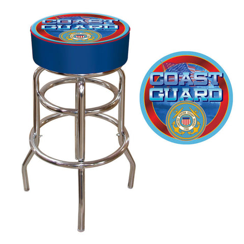 Trademark Commerce USCG1000 US Coast Guard Padded Bar Stool - Peazz.com