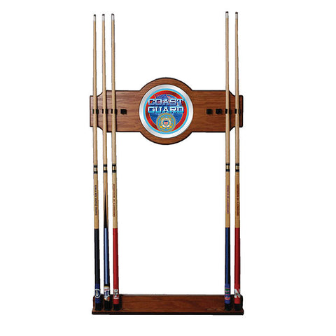 Trademark Commerce USCG6000 U.S. Coast Guard 2 piece Wood and Mirror Wall Cue Rack - Peazz.com