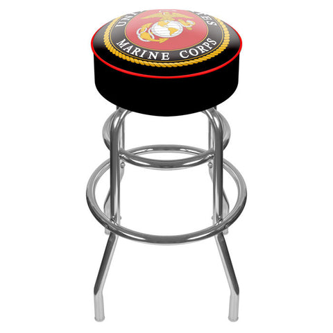 Usmc1000-B United States Marine Corps Padded Swivel Bar Stool - Peazz.com