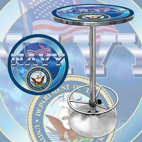 Trademark Commerce USN2000 US Navy Pub Table - Peazz.com