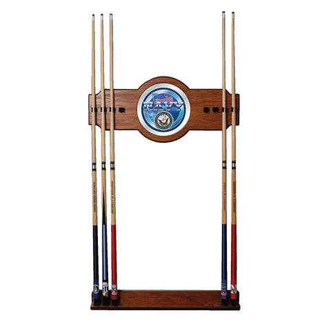 Trademark Commerce USN6000 U.S. Navy 2 piece Wood and Mirror Wall Cue Rack - Peazz.com