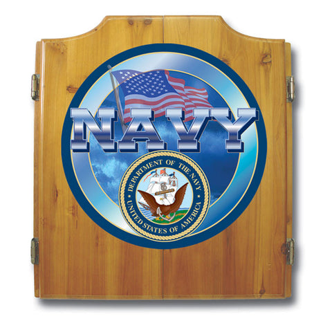 Trademark Commerce USN7000 US Navy Cabinet includes Darts and Board - Peazz.com