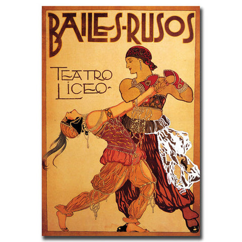 Bailes Rusos Teatro Liceo-Gallery Wrapped 18x24 Canvas Art - Peazz.com