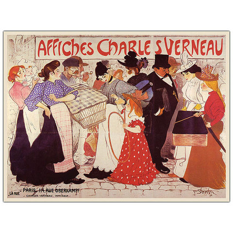 Affiches Charles Verneau by Steinlen-Framed 35x47 Canvas Art - Peazz.com