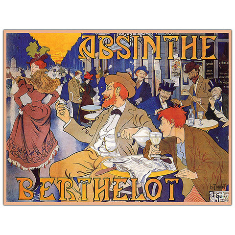 Absinthe Berthelot by Thiriet-Ready to Hang 35x47 Canvas Art - Peazz.com