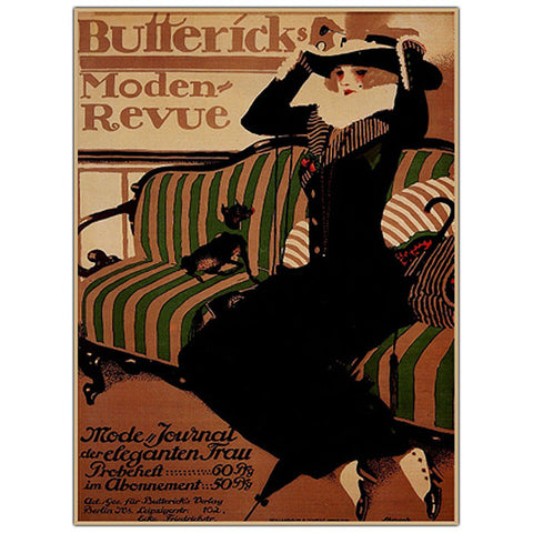 Trademark Commerce V6030-C2632GG Buttericks Moden Revue by Paul Scheurich-Framed 26x32 Canvas - Peazz.com