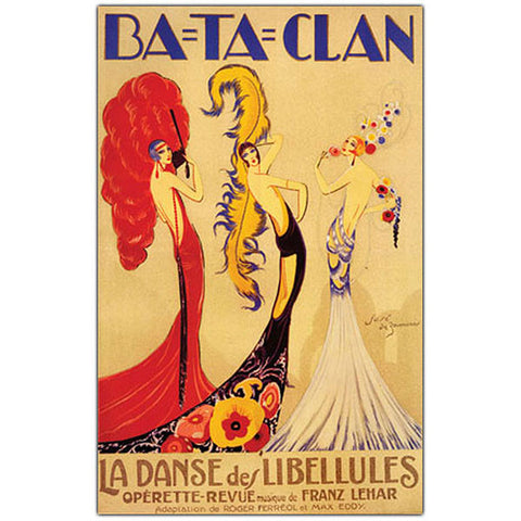 Bataclan by Jose de Zamora-Framed 24x32 Canvas Art - Peazz.com