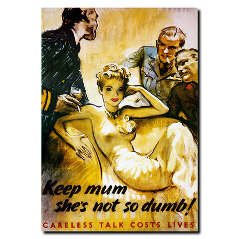 Trademark Commerce V7085-C1419GG Keep Mum she's not so Dumb-14x19 Ready to Hang Art - Peazz.com