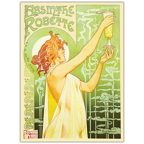 Trademark Commerce V8010-C2632GG Absinthe Robette by Privat Livemont- 26x32 Canvas Art - Peazz.com