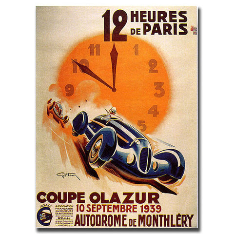 12 Heur de Paris by George Ham-24x32 Ready to Hang Canvas! - Peazz.com