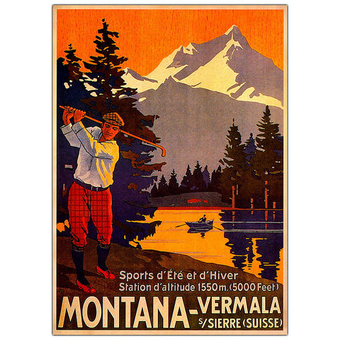 Trademark Commerce V8066-C2632GG Montana- 26x32 Canvas Art Ready to Hang! - Peazz.com