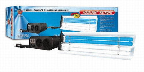Coralife Aqualight Compact Fluorescent Retrofit Lighting Kit, 2X65 Watt, 24 inch (53202)