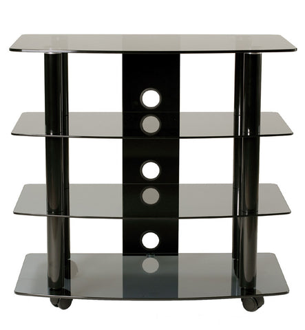 TransDeco TD210B High Boy TV Stand/Cart With 3 Av Shelves - Peazz.com