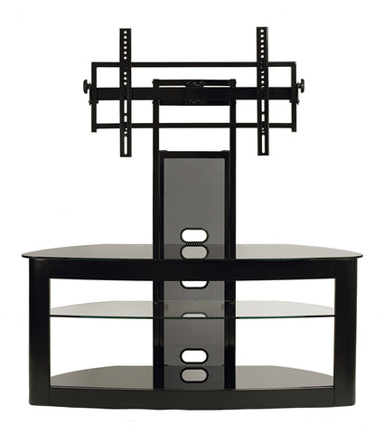 "TransDeco TD600B Flat Panel TV Mounting System W/ 3 Av Shelves For Up To 65"" Plasma Or LCD/LED TVs - Black - Peazz.com"