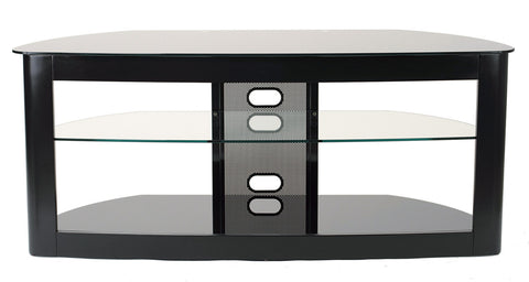 "TransDeco TD610B Flat Panel TV Stand W/ 2 Av Shelves For Up To 60"" Plasma Or LCD/LED TVs - Black - Peazz.com"