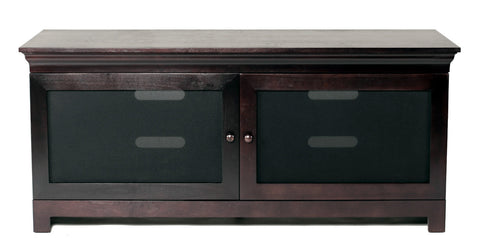 "TransDeco TD855ES 55"" Birch Veneer Engineer Wood LCD TV Stand For Up To 58"" Plasma Or LCD/LED TVs - Black - Peazz.com"