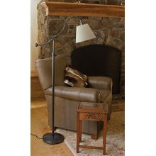 House of Troy HP700-OB-WL Hyde Park Floor Lamp Oil Rubbed Bronze w/White Linen Shade - Peazz.com