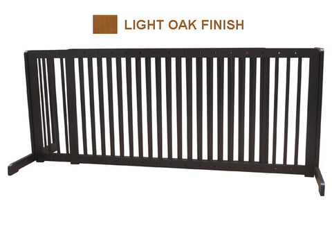 "Free Standing Pet Gate - 57""-103""L x 27""H x 21.6""D - Light Oak (MK81722-LO) - Peazz.com"