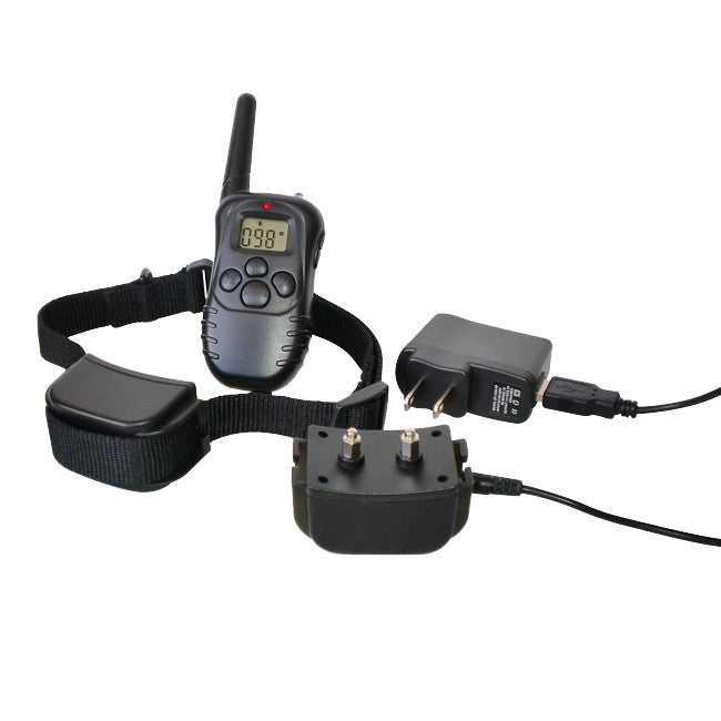 300 Yard Petrainer Rechargeable & Waterproof Remote Training Collar - MK998DR-1D