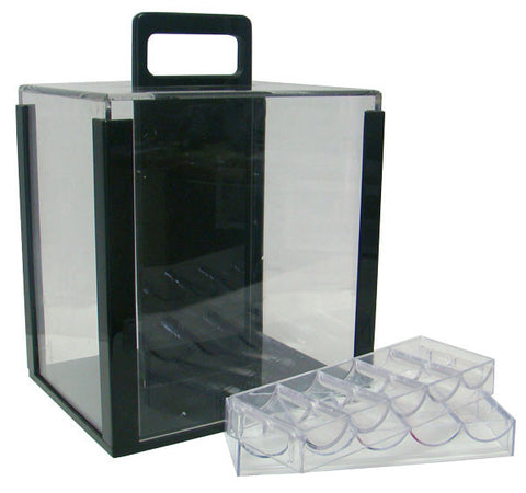 Brybelly CAS-1001A 1,000 Ct Acrylic Carrier with 10 Acrylic Chip Trays - Peazz.com