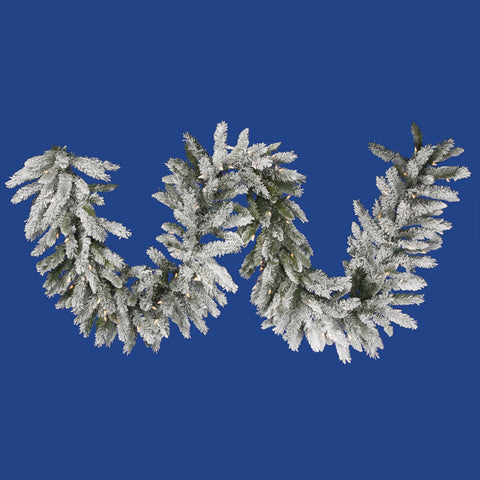 1.3' Vickerman A100416 Flocked Sugar Pine - Flocked White on Green - Peazz.com