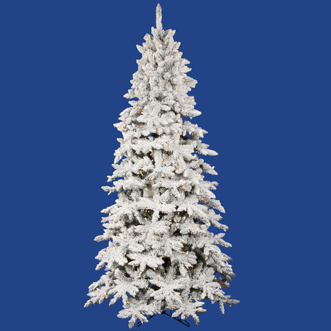 3.5' Vickerman A100536 Flocked Olympia Fir - Flocked White on Green Christmas Tree - Peazz.com