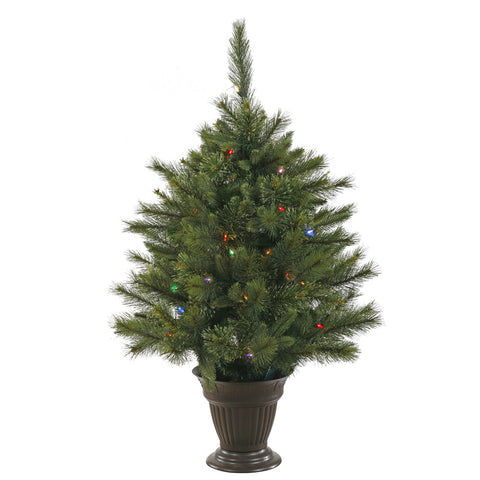 3.5' Vickerman A118537LED Cashmere Pine - Green Christmas Tree - Peazz.com
