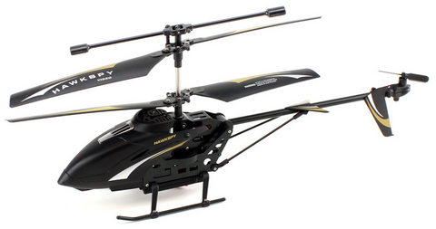3.5ch Hawkspy LT-712 RC Helicopter with Gyro and Camera - Black - Peazz.com