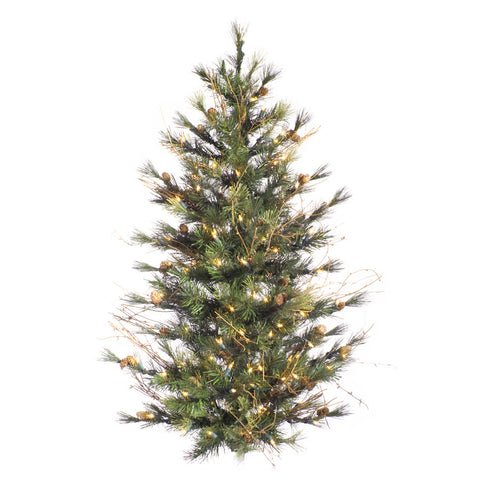 4' Vickerman A801895 Mixed Country Pine - Green - Peazz.com