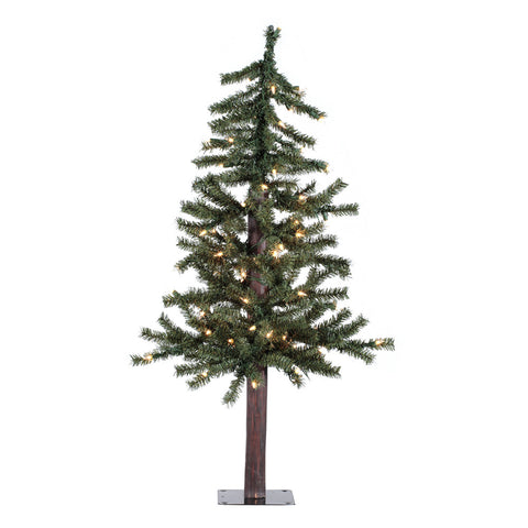 3' Vickerman A805131 Natural Alpine - Green Christmas Tree - Peazz.com