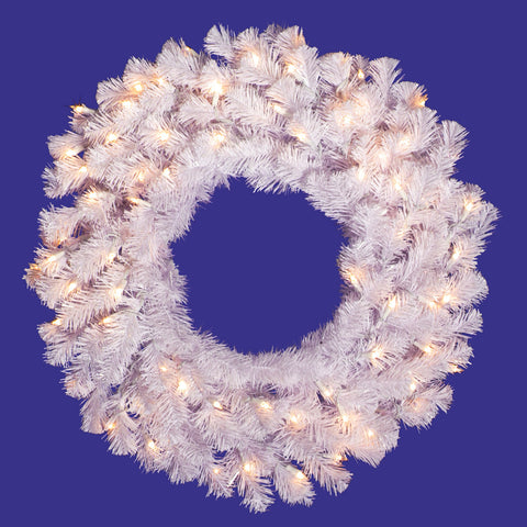 2.5' Vickerman A805831 Crystal White Garlands & Wreaths - Crystal White - Peazz.com