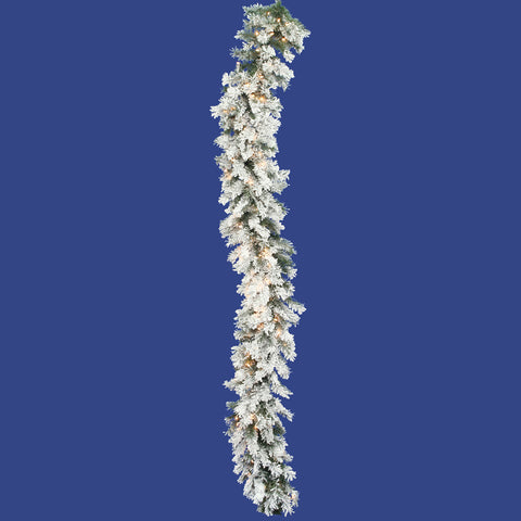 1.3' Vickerman A806316 Flocked Alaskan - Flocked White on Green - Peazz.com