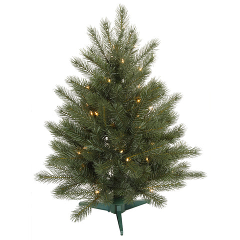 3' Vickerman C103536 Blue Spruce Instant Shape - Blue, Green Christmas Tree - Peazz.com