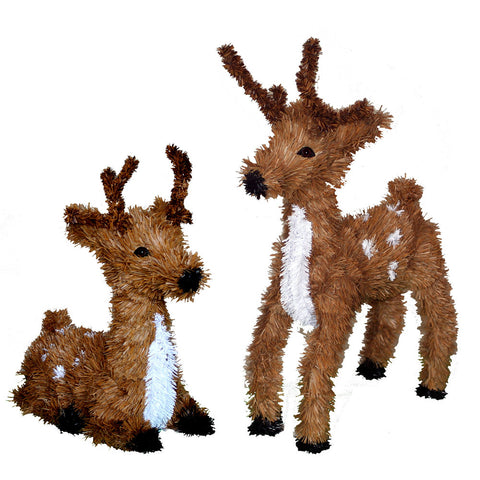 1.7' Vickerman C802013 Reindeers & Santas - Brown - Peazz.com