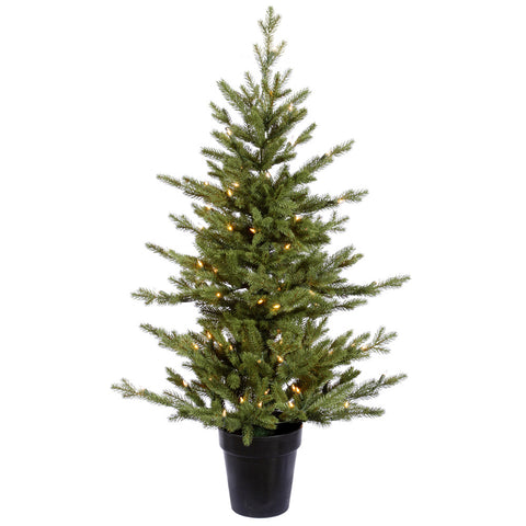3.5' Vickerman G114037 Carson Fraiser Fir - Green Christmas Tree - Peazz.com