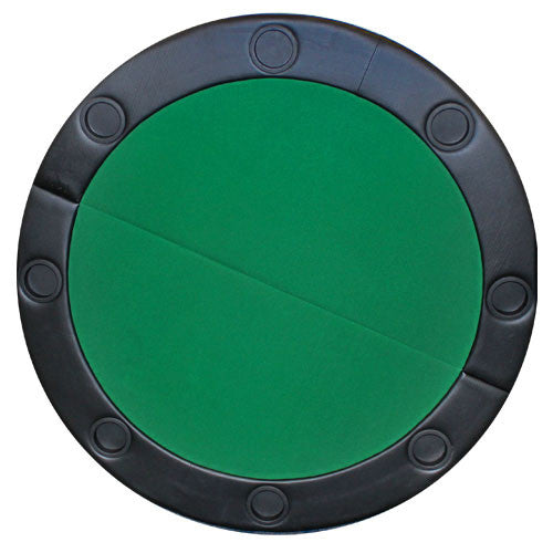 "Brybelly GPTT-104 48"" Round Poker Table Top w/ Padded Rail - Green"