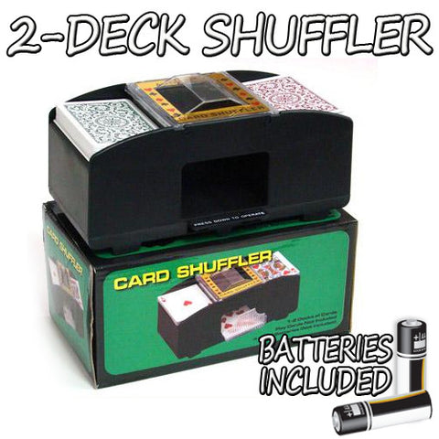 Brybelly GSHU-001.Free-10 2 Deck Playing Card Shuffler w/ Batteries - Peazz.com